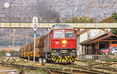 Frontman (cossie*bossie) Tags: ludmilla bdz class 07 065 red diesel luganskteplovoz te109 cargo bulgaria dragoman coal train freight bulgarian railways