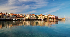 Chania_31_07122016-1109 (john houv) Tags: chania crete mediterranean oldharbour oldharbor lighthouse reflection