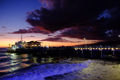 Santa Monica pier after sunset (mikewomack2000) Tags: santamonicapier aftersunset santamonica pier beach sunset