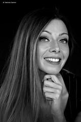Elisa Carrieri (sanino fabrizio) Tags: ritra ritratto modella bianco e nero portrait sorriso persona posa studio bn canon 550d 1855