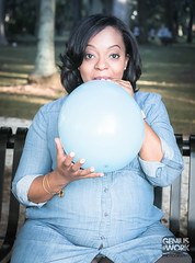 Ready to Pop (Genius@work Photography ©) Tags: maternity maternityphotography balloon readytopop big pop blue itsaboy excited mommytobe fun outdoorphotography belly