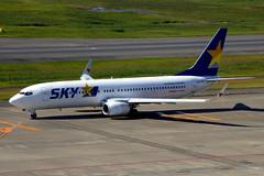 JA73NR Boeing 737-8FH SKY  HND (Jetstar31) Tags: ja73nr boeing 7378fh sky hnd