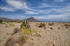 (402/16) Playa de los Genoveses (Pablo Arias) Tags: pabloarias photoshop nxd cielo nubes españa arquitectura arena playa mar agua mediterráneo almería comunidaddeandalucía duna paisaje