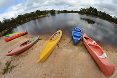 It's a Round, Round World (PhotosbyDi) Tags: hallsgap thegrampians lake canoes fisheye nikond600 samyang8mmfisheyelens