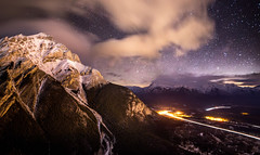 Bow Valley (Christian Nesset) Tags: banff bow valley canmore alberta canada norquay cascade mountain mountains night nighttime darknes long exposure stars light clouds nikon d800 sigma