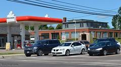 waiting for the lights to change (Ultrachool) Tags: streetscenes charlottetown princeedwardisland canada canadian traffic pontiac cars unlimitedphotos