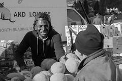 Cantaloupe Man (votsek) Tags: 2016 northend street vendor cantaloupe melon sales market outdoor haymarket haymarketsquare bostonmarket boston nikond750 urban city newengland