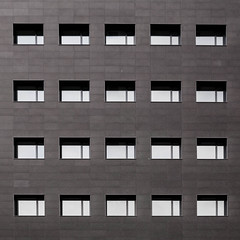 facade (morbs06) Tags: barcelona catalunya diagonal131 abstract architecture building bw city cladding facade light lines office panels pattern repetition shadow square stripes texture urban windows