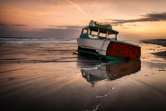 Beached Boat in St. Augustine (Artista Imagini) Tags: staugustine beach staugustinebeach coast sunset ocean florida sunrise wreck abandoned salvage atlantic