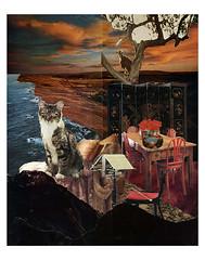 Capricorn - StarCat (tjager) Tags: astrology zodiac starcat livingferal capricorn earthsign goat cat garnet carnation collage art