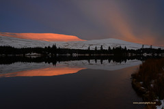 Exhibition ahead. (anthony.dyke1) Tags: breconbeacons wales snow beacons reservoir winter reflections