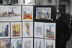 People (J jeid) Tags: bruxelles brussels citt city grotemarkt people persone art streetart