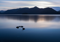The end to an amazing weekend in The Lakes (SiKenyonImages) Tags: derwentwater keswick lakedistrict longexposure catbells borrowdale glass reflection sunset mountains winter blue sky
