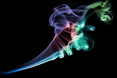 Smoke (Patrick Foto ;)) Tags: light red white mist abstract motion black color art lines flow fire design colorful soft pattern background smoke air smooth wave steam trail flame smell backdrop swirl form concept shape effect isolated fragrance