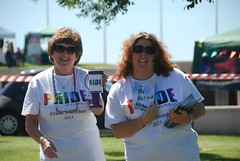"Pride in Plymouth Volunteers distrubuting the Pride Guide 2015 at Plymouth Pride • <a style=""font-size:0.8em;"" href=""http://www.flickr.com/photos/66700933@N06/20007911574/"" target=""_blank"">View on Flickr</a>"