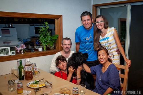 Wspólne zdjęcie z rodziną Davida i Yukiko