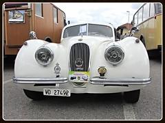 Jaguar XK 120, 1950 (v8dub) Tags: auto old classic 120 car schweiz switzerland automobile suisse automotive voiture oldtimer british jaguar oldcar 1950 dt devant collector xk wagen pkw klassik romont worldcars vuisterens