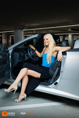 Anouschka (Victor van Dijk (Thanks for 3.8M views!)) Tags: woman girl female canon silver model blond blonde cabrio opel tigra anouschka victormk1 wwwvictorvandijkcom