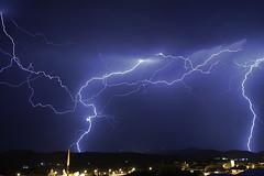 Formas de la naturaleza  -  Fractales elctricos (Antonio Martnez Toms) Tags: noche tormenta nocturna fractales relmpago