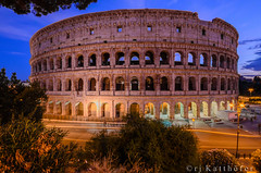 Colosseo/Flavian Amphitheatre (RJ Katthfer) Tags: italy rome architecture ruins engineering landmark colosseum arena romanempire colosseo flavianamphitheater