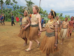 Catherine, a Fellow Ethical Traveler, Takes Part in a Sing-sing Ceremony
