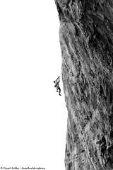 Big Wall Climbing (danielkoehlersphotos) Tags: blackandwhite bw fall rock stone wall outdoor drop falling greece climbing climber rockclimbing lead klettern kalymnos bigwall sportclimbing einfarbig sportklettern sportphotography danielkhler danielkoehlersphotos