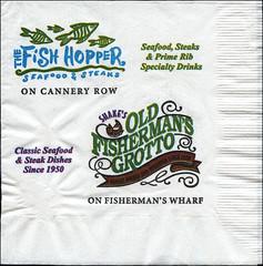 ephemera - The Fish Hopper napkin (Jassy-50) Tags: california restaurant monterey napkin ephemera fishhopper fishhopperrestaurant