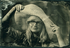 kolodion (miradel) Tags: old portrait people girl smile work vintage pose fun person glasses early is photo model ancient joke joy young posing poland polska photographic an hut simplicity persons moment fotografia process simple cinematic craziness technique masterclass proces warsztaty  collodion interphoto mokry  kolodion kolodionowy manythankstoandrzejgrski
