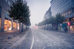 To infinity... And Beyond ! (Gilderic Photography) Tags: street city morning mist fog lumix belgium belgique belgie perspective panasonic liege brouillard ville brume gilderic lx3 dmclx3
