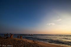 Poipu Beach Park (Kosen Ishikawa) Tags: sunset beach hawaii kauai poipu monkseal
