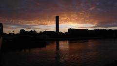 Rouen - Soeil couchant sur la Seine (jeanlouisallix) Tags: sunset panorama france seine landscape soleil eau rivire rouen maritime normandie paysage reflets couchant fleuve rflexion