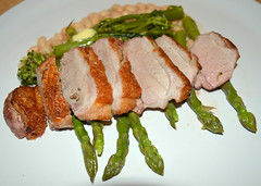 Sliced Duck Breast with Asparagus (Tony Worrall) Tags: uk england food make menu duck yummy nice dish photos tag cook tasty plate eaten things images x made eat foodporn add meal taste dishes cooked tasted veg grub iatethis foodie flavour plated foodpictures ingrediants picturesoffood photograff foodophile 2015tonyworrall
