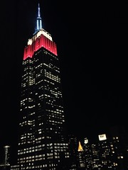 Red, White, and Blue (anomaly pariah) Tags: nyc travel november blue red white newyork night empirestatebuilding redwhiteandblue bigapple