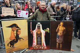 Don't Bomb Syria - London protest 28 Nov 2015