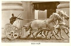 Ben-Hur (Truus, Bob & Jan too!) Tags: 1920s cinema film race vintage movie star ross silent roman postcard screen american hollywood movies actor chariot antiquity acteur filmstar benhur stummfilm attore schauspieler muto ramonnovarro muet