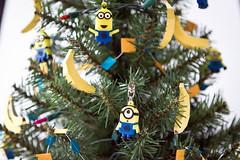 close up of minion christmas tree kiddy factory tags christmas tree banana garland - Minion Christmas Tree