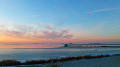 The Horsehead Beach in wintertime (Threin Ottossen) Tags: beach jetty per lolland denmark sunset dusk sky landscape winter outdoor serene cloud innamoramento abigfave