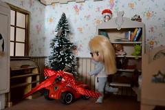 Blythe (pe.kalina) Tags: christmas miniature doll blythe petshop diorama petite dollhouse hasbro roombox