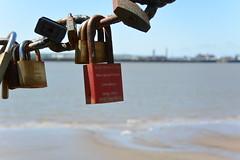 locks (Hayashina) Tags: northengland padlocks liverpool sea texture fence
