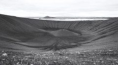 Hverfell Crater by Manu - Iceland (Ste Cube) Tags: hverfell iceland islanda bymanu bn bw blackwhite biancoenero panorama view landscape
