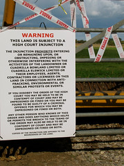Injunction (vintage vix - Everything is a miracle) Tags: fracking injuction prestonnewroad