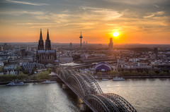 Sunset over Cologne / Sonnenuntergang ber Kln () Tags: wallpapers alemagne alemanha alemania bahnhof bridge brcke catedral catedraldecolonia catedraldecolnia cathedral cathdrale cathdraledecologne church cologne colognecathedral colognecentralstation colonia colonius coucherdesoleil deutschland dom estacincentraldecolonia estacindeferrocarril estacinferroviaria estaoferroviria fernmeldeturm fluss garecentraledecologne gareferroviaire germany hdr hohedomkirchestpetrus hohenzollernbridge hohenzollernbrcke kirche kln klnhauptbahnhof klnerdom museumludwig musicaldome ocaso photomatix pont ponthohenzollern ponte puentehohenzollern prdosol railwaystation reno rhein rhin rhine rin rio river sonnenuntergang sunset telecommunicationstower tonemapped tonemapping torre tourdetlcommunications tower trainstation turm nordrheinwestfalen