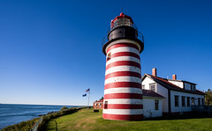Lighthouse at West Quoddy Head Main-00904 (Steve Muise) Tags: lighthouse main ocean blue sky red white