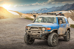 Imogene Pass (Fire_For_Effect) Tags: canon 5d 5dmkii 5dmk2 car auto automotive photo photography lightroom photoshop composite wheels landscape sun toyota fj cruiser fjc fj40 ouray colorado imogene pass 4x4 offroad only snow mountains peak trail co telluride mining clouds lifted built mud dirt sand trd pro off road logging adventure exploration expedition teams