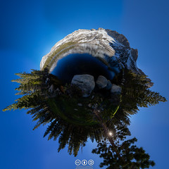 Planet of the Lower Young Lake (au_ears) Tags: raggedpeak yosemite whitemtn littleplanet loweryounglake trees highcountry 2016 california tuolumnemeadows panorama younglakes