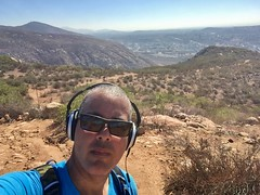 Hiking South Fortuna Mountain Trail (Blue Rave) Tags: iphonephotography iphoneography sandiego nature trail missiontrailsregionalpark fortunamountaintrail 2016 self myself ego me bloke dude guy male mate people selfie boseheadphones headphones headset path pathway sunglasses california ca