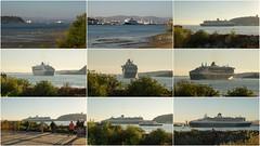 Virage à 180 degré du Queen Mary 2 (rivai56) Tags: rotation à 180 degré du queen mary ii port de québec montage cunard croisière ship cruise