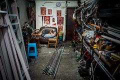 handyman (Rob-Shanghai) Tags: street shanghai china handyman rest resting couch people life workshop windows hardlife