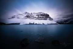 Spotlight (BrentGoldman|Photography) Tags: bowlake lakemoraine banff alberta winter fall autumn snow lake mountain longexposure