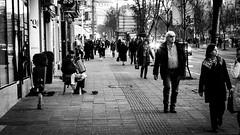 Look away! (I.C. Photo) Tags: belgrade serbia beograd srbija blackandwhite bw streetphotography street people human urban